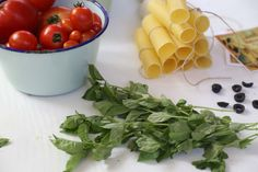 Cannelloni Recipe with black olives fresh tomato basil and minced meat