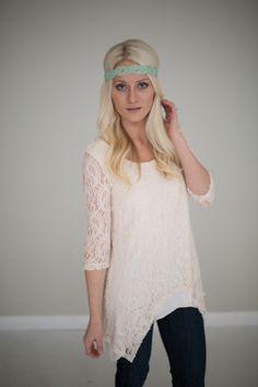 Magnolia Boutique Indianapolis - Anna Lace Tunic- Cream, $39.00 (http://www.indiefashionboutique.com/anna-lace-tunic-cream/)