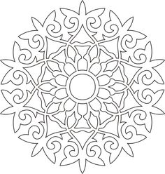 Embroidery Patterns, Cross Stitch Patterns, Quilt Patterns, Stencil Designs, Paint Designs, Mandala Design, Mandala Art, Deco Cuir, Crochet Bedspread Pattern