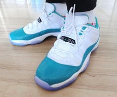 The Aqua 11's are perfect because this color on the sneaker , Aqua , is very rare on sneakers .