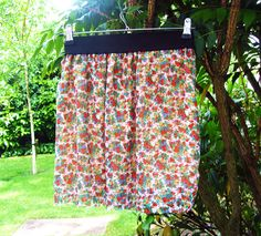 DIY Summer- Floral chiffon skirt in 30mins - AnemiStyle
