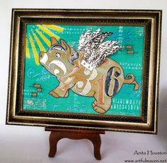 The Artful Maven Haven: Pigs are a Flying at A Vintage Journey!!!
