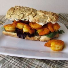 Paleo Shrimp Po-Boy made with Otto's Naturals Cassava Flour French Bread by Paleo Cajun Lady