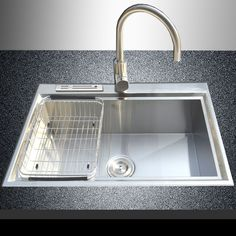 "28"" x 18"" 18 Gauge Stainless Steel Single Bowl Hand Made Top Mount Kitchen Sinks | eBay"