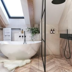 Loft Bathroom, Dream Bathrooms, Beautiful Bathrooms, Small Bathroom, Bathroom Ideas, Bathroom Design Luxury, Home Interior Design, Loft Room, Bathroom Inspiration