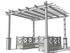 DIY pergola plans via Ana White, may she live forever.
