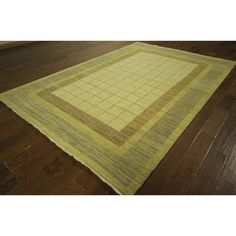 Manhattan Gabbeh Collection Geometric Hand-knotted Area Rug
