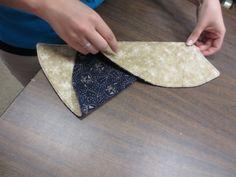 Folding our napkin
