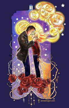 9th Doctor and Rose Tyler. Doctor Who by aimeekitty.deviantart.com on @deviantART