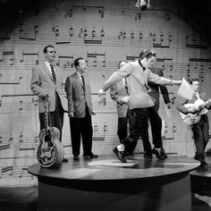Elvis in rehearsal for his appearance on the Ed Sullivan Show (1957)