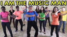 """FREE VIDEO: """"I am the Music Man"""". Your children will learn the moves to this popular dance song that is sweeping the world. This fun dance song makes a great brain breaks activity anytime you want your children to get up, move, release stress, refresh, recharge and regenerate. It also perfect for group activities, indoor recess and physical education. And it's a HIT performed by children for school assemblies and family performances! This song is ideal for preschool, kindergarten and…"""