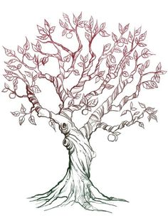 whimsical tree tattoo - Google Search