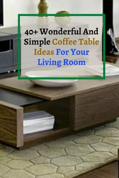 40+ marvelous And Simple Coffee Table Ideas For Your Living Room #livingroomideas Simple Coffee Table, Small Rooms, Home Look, Living Room, Furniture, Ideas, Home Decor, Small Bedrooms, Decoration Home