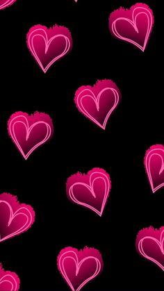 Emoji Wallpaper, Heart Wallpaper, Screen Wallpaper, Wallpaper Backgrounds, Valentine Wallpaper, Abstract Digital Art, Cute Wallpapers, Iphone Wallpapers, Black Walls