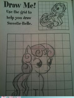 How to draw Sweetie Belle