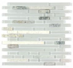 All Marble Mosaic Glass and Stone blend Random Strip 12 x 12 Mosaic Tile Mag-4444-ST from http://AllMarbleTiles.com