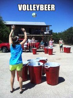 Volley beer pong