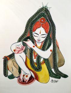 Krishna Tulasi. #watercolour #krishnafortoday #tulasipriyam
