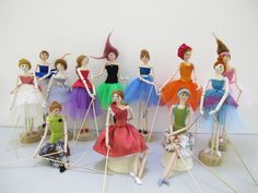 Felt Folk Puppets made for me by Jean