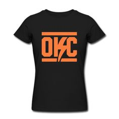 LUSS Oklahoma City Thunder Orange Logo pretty women T-shirt Black XL -- Awesome products selected by Anna Churchill