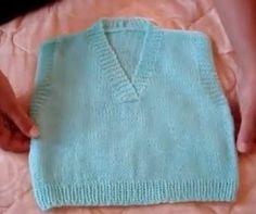 Receita de Tricô: Coletinho de bebê em tricô