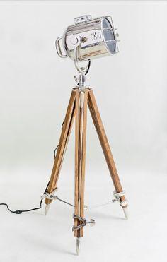 Bogart Surveyor Style Floor Lamp | Nautical Searchlight Lamp #Interior #Decor