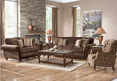 picture of Ansel Park Brown 5 Pc Living Room from Living Room Sets Furniture