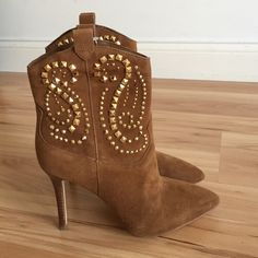 NWT Michael Kors Reena Studded Short Booties Brand new never worn. Original box not included. 3in heel. Michael Kors Shoes Heeled Boots