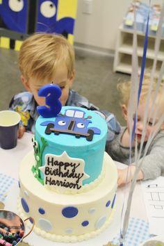 Little blue truck party theme; little blue truck cake; little blue truck party ideas