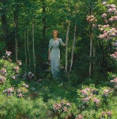 Charles Courtney Curran The Edge of the Woods 1912