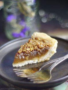 Canadian Maple Pie Recipe (Free From: gluten, dairy, eggs, oil, and refined sugar, and with a nut-free