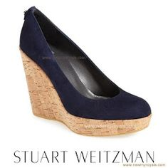 """STUART WEITZMAN Wedges - Stuart Weitzman """"Corkswoon"""" Wedges in Nice Blue Suede - $375"""