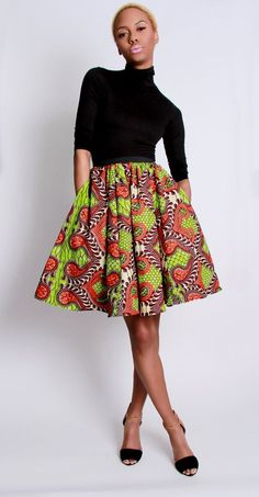 NEW The Maggie African Print 100 Holland Wax by DemestiksNewYork,