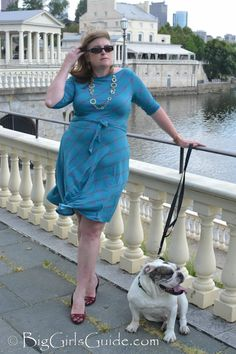 Curvy Girl  Dress Plus Size Fashion for Women over 40.  Plus size blogger Sherry Aikens from BigGirlsGuide Dress from GwynnieBee