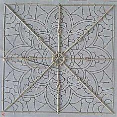 La-DENTelle- primer paso. Crochet Doily Patterns, Lace Patterns, Crochet Squares, Clothes Patterns, Dress Patterns, Needle Lace, Bobbin Lace, Irish Crochet, Crochet Lace