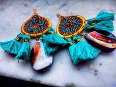"71 Likes, 5 Comments - Ginneh's House of Beads (@_lapidarium_) on Instagram: ""#abalone #brickstitch #brickstitchearrings #chandelierearrings #delicas #hexdelicas #miyuki…"""