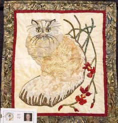 """""""X"""" by Judith Ledford.  Challenge Quilt. 2016 El Camino Quilters Guild show (California)."""