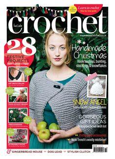 Inside crochet Winter mantle crisp chevrons Boules et sapin de Noel