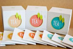 Leafy Tea Packaging Opens Up to a Colorful World of Delicate Flavors #tea #unique trendhunter.com