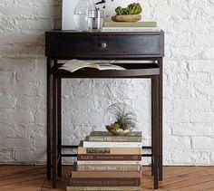 Woodrow Metal Nesting Nightstand, Set of 2
