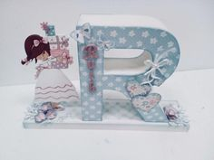 Decoupage, Bookends, Mermaid, Diy, Letters, Scrapbook, My Favorite Things, Projects, Crafts