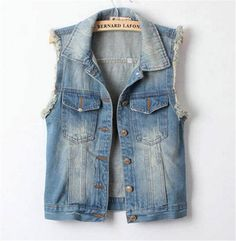 Vintage Casual Sleeveless Colete for Girls
