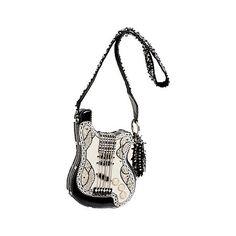 Graceland Mary Frances Designer Handbag ($265) ❤ liked on Polyvore featuring bags, handbags, shoulder bags, purse shoulder bag, man bag, patent leather handbags, hand bags and handbags purses