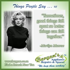 Marilyn Monroe was born on June 1, 1926 and died on August 5, 1962. She was an American Singer, Actress and Model. She was one of the most popular sex symbols in the 1950s and the 1960s.   #blondebombshell #marilynmunroe #wekeepthemworking #bergensappliancerepairs #appliancerepairs #bergensedenvale  Follow us on Instagram and Pinterest Contact:  079 884 0543 Email:   edenvale@bergens.co.za Bergen, American Singers, Florida, Marilyn Monroe, Quotations, 1950s, Actresses, This Or That Questions, Sayings