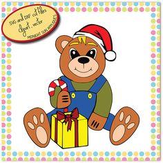 Christmas teddy svgcute teddy svgchristmas cut filebear