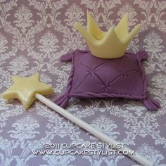 Fondant Princess Set Cake and Cupcake Topper by CupcakeStylist, $12.00