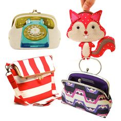 I love the telephone purse...   Frame purse inspiration | How About Orange