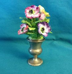 This one is unique!  Gorham~ Sterling Silver 434~Candle Holder ~Coalport Bone China Flower Vase~NICE!