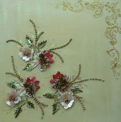 Hand embroidery on canvas by Magical Mystery Tuca, via Flickr: