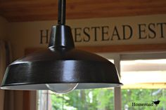 homeroad: Kitchen Farmhouse Light... Repainted.
